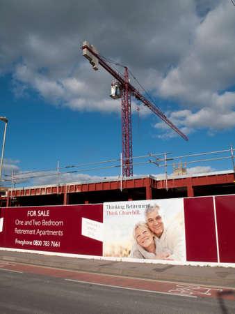 home sale: Churchill retirement apartment construction site development