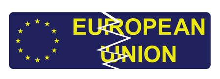 autonomia: signo rota Uni�n Europea Vectores