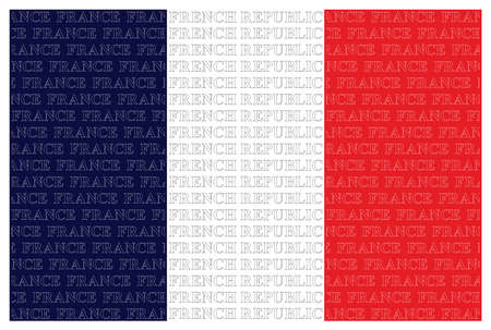 tricolour: The French Republic flag with overlaid text isolated on white background
