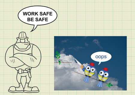 work safe: Construction manufacturing and engineering health and safety with work safe be safe message
