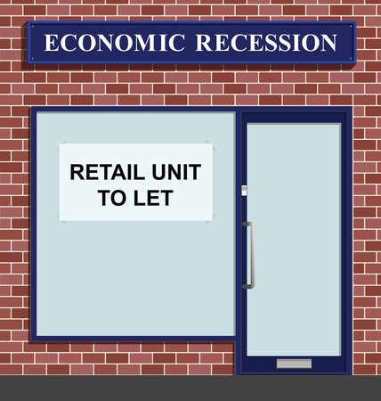 slump: Vacant shop unit to let due to economic recession