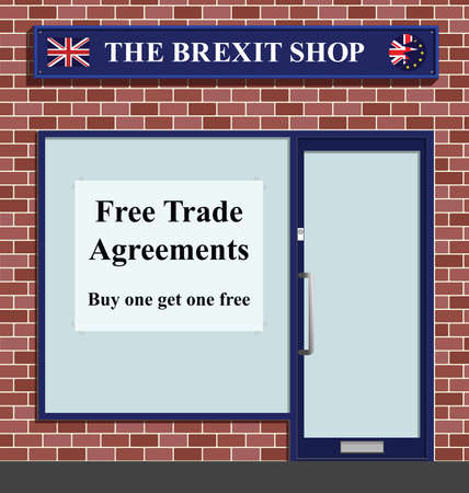kingdoms: The Brexit shop advertising free trade agreements following the United Kingdoms referendum to leave the European Unity