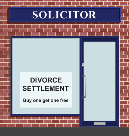 solicitors: Comical Solicitors premises advertising marriage divorce settlements buy one get on free offer