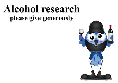 inebriated: Alcohol research on white background with copy space for own text