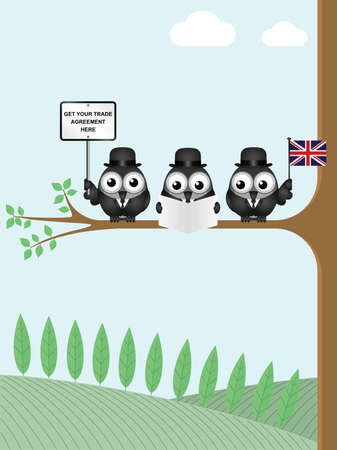 briton: Comical United Kingdom government diplomatic trade delegation team advertising for new worldwide trade deals after exiting the European Union following the June 2016 referendum