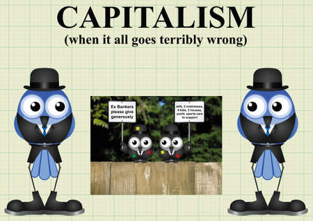 threadbare: Comical capitalism and when it all goes terribly wrong with out of work threadbare bankers