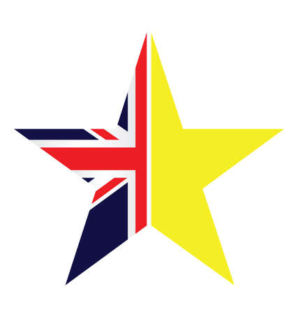 UK and EU split star representing the United Kingdom exit from the European Union resulting from the June 2016 referendum
