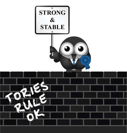 Conservative strong and stable political electioneering soundbite
