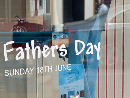 pa: Fathers Day shopfront window display