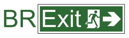 Exit sign illustration.