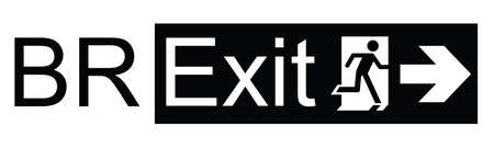 Brexit exit sign representing the United Kingdom exit from the European Union resulting from the June 2016 referendum isolated on white background Illustration