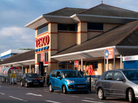 middlesex: Tesco Extra supermarket store, company founded by Jack Cohen in 1919