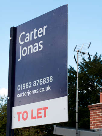 Carter Jonas estate agent sign advertising residential property to let