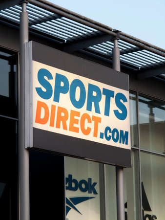 company premises: Sports Direct sportswear fashion retailer, established in 1982 by Mike Ashley Editorial
