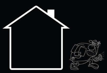 Representation of home security.