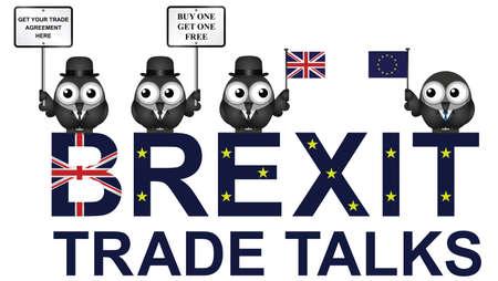 Komische Verenigd Koninkrijk Trade Talks onderhandelingsdelegatie na het referendum van juni 2016 om de Europese Unie te verlaten