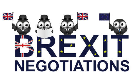 Comical United Kingdom negotiation delegation following the June 2016 referendum to  exit the European Union
