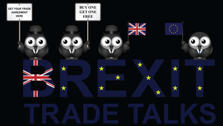 Comical United Kingdom Trade Talks negotiation delegation following the June 2016 referendum to exit the European Union