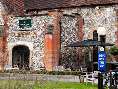The Mill Greene King public house and restaurant, closed due to the Novichok nerve agent attack on Sergei and Yulia Skripal