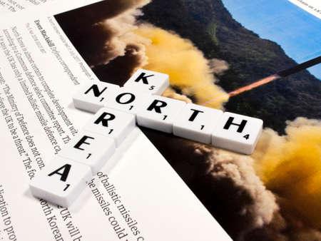 representation of North Korean nuclear  ballistic missile testing Sajtókép