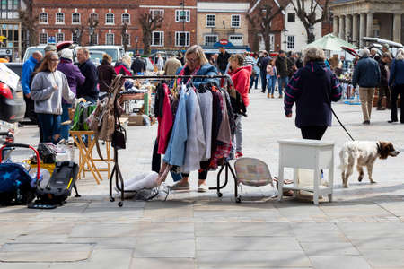 car boot sale held on the third Sunday of each month located at the Guildhall Square of the city