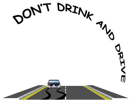 Do not drink drive public information road safety awareness message isolated on white background