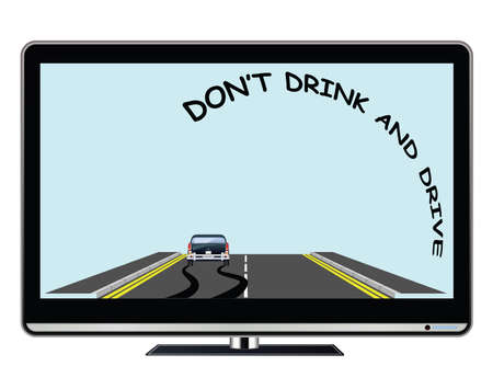 Television advertisement do not drink drive public information road safety awareness campaign with copy space for own text or graphics Banco de Imagens