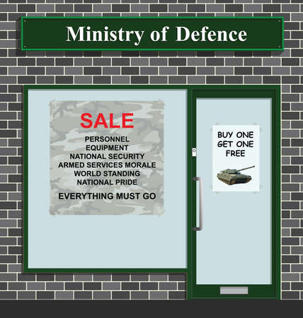 Sale at the Ministry of Defense due to budget cuts and worldwide economic downturn