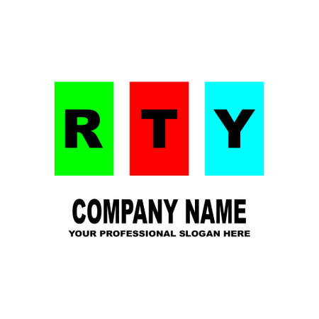 The three letters RTY are located on three separate squares of different color illustration. Ilustrace