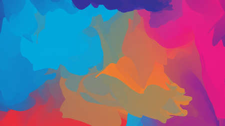 Abstract colorful background with chaotic colored elements. Stock Illustration Stockfoto - 138471660