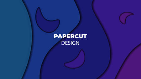 Abstract colorful background. Papercut design. Stock Illustration