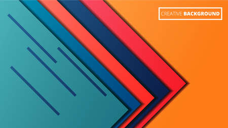 Modern colorful background. Material design with geometric elements. Horizontal format in vector. Stock Illustration 向量圖像