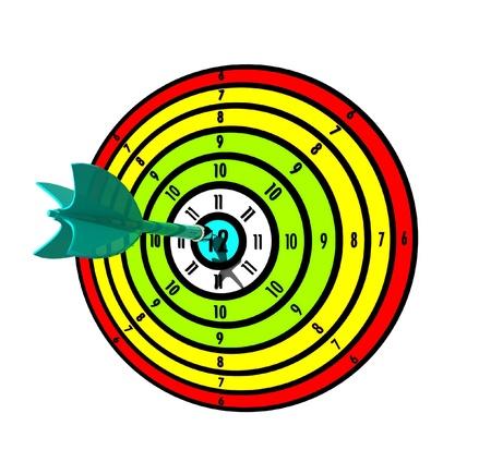 Dart on Dartboard Bullseye