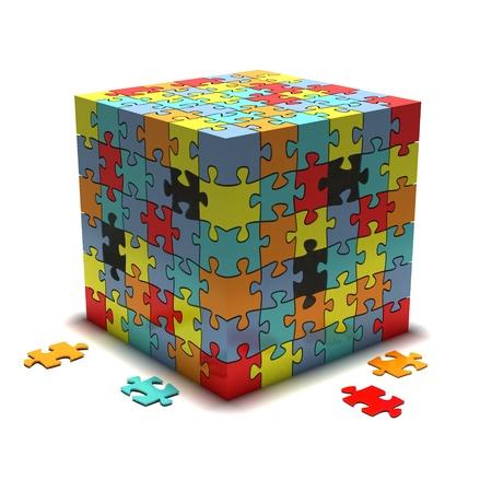 teaser: cube Stock Photo