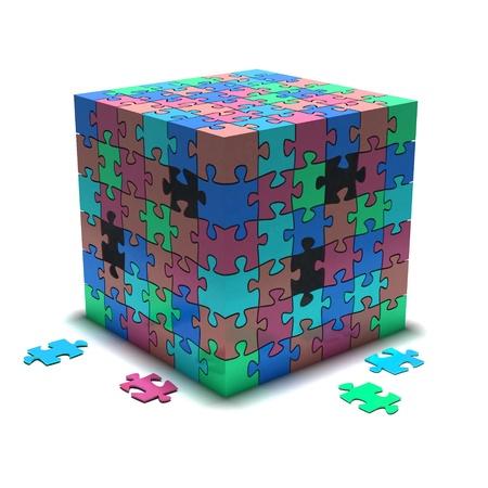 Puzzle Reklamní fotografie