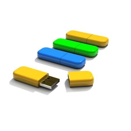 flash drive Stock Photo
