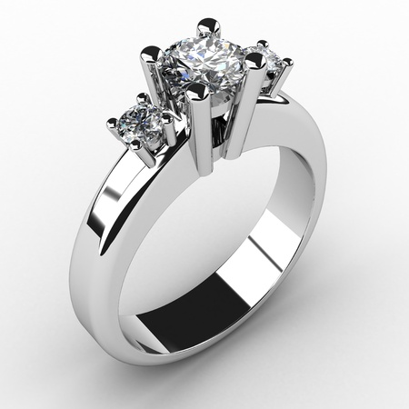 silver ring: romantic