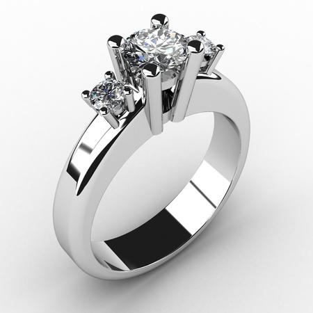 diamond ring: romantic