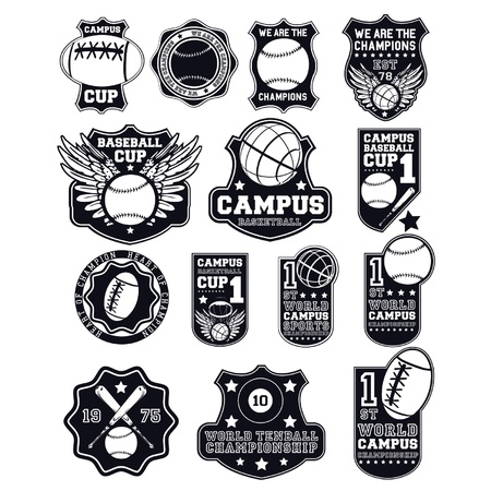 champions league: collage badges Illustration