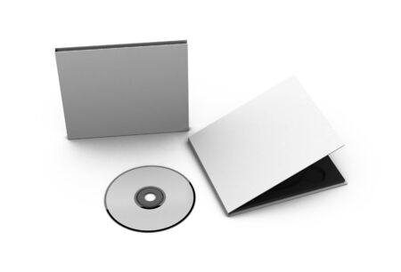 recordable media: cd and case Stock Photo