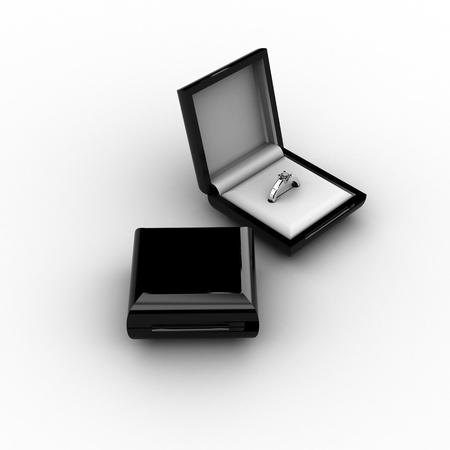 ring box Stock Photo