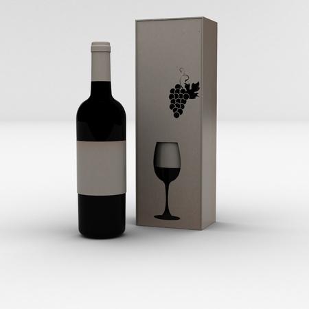 wine bottle Stock Photo