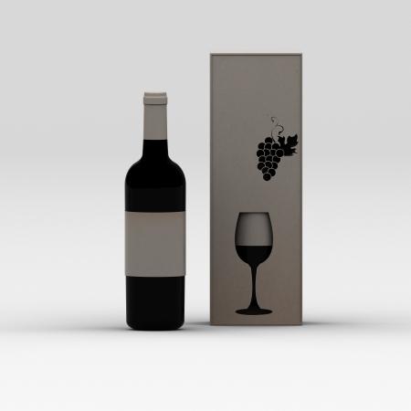 láhev vína
