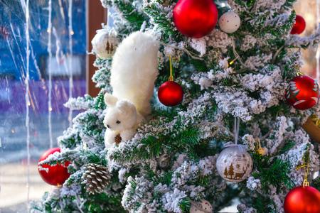 newyear: Decorated Christmas Tree. Christmas decoration