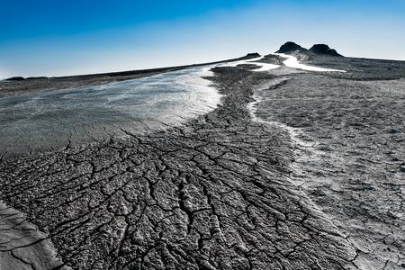 effusion: Mud volcano eruption