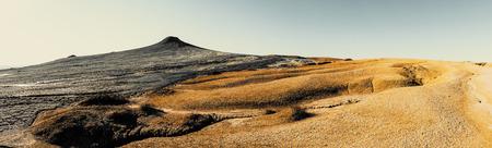 earthquake crack: Mud volcano, panoramic view