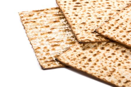 Joodse matza op Pesach Stockfoto