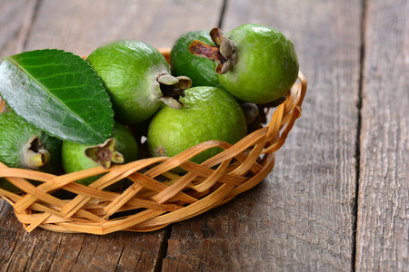 guava fruit: Feijoa fruit