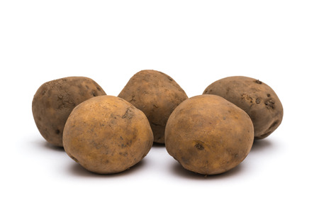 potatoes on a white background Stock Photo
