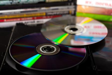 コンパクト ディスクやディスク ボックス 写真素材